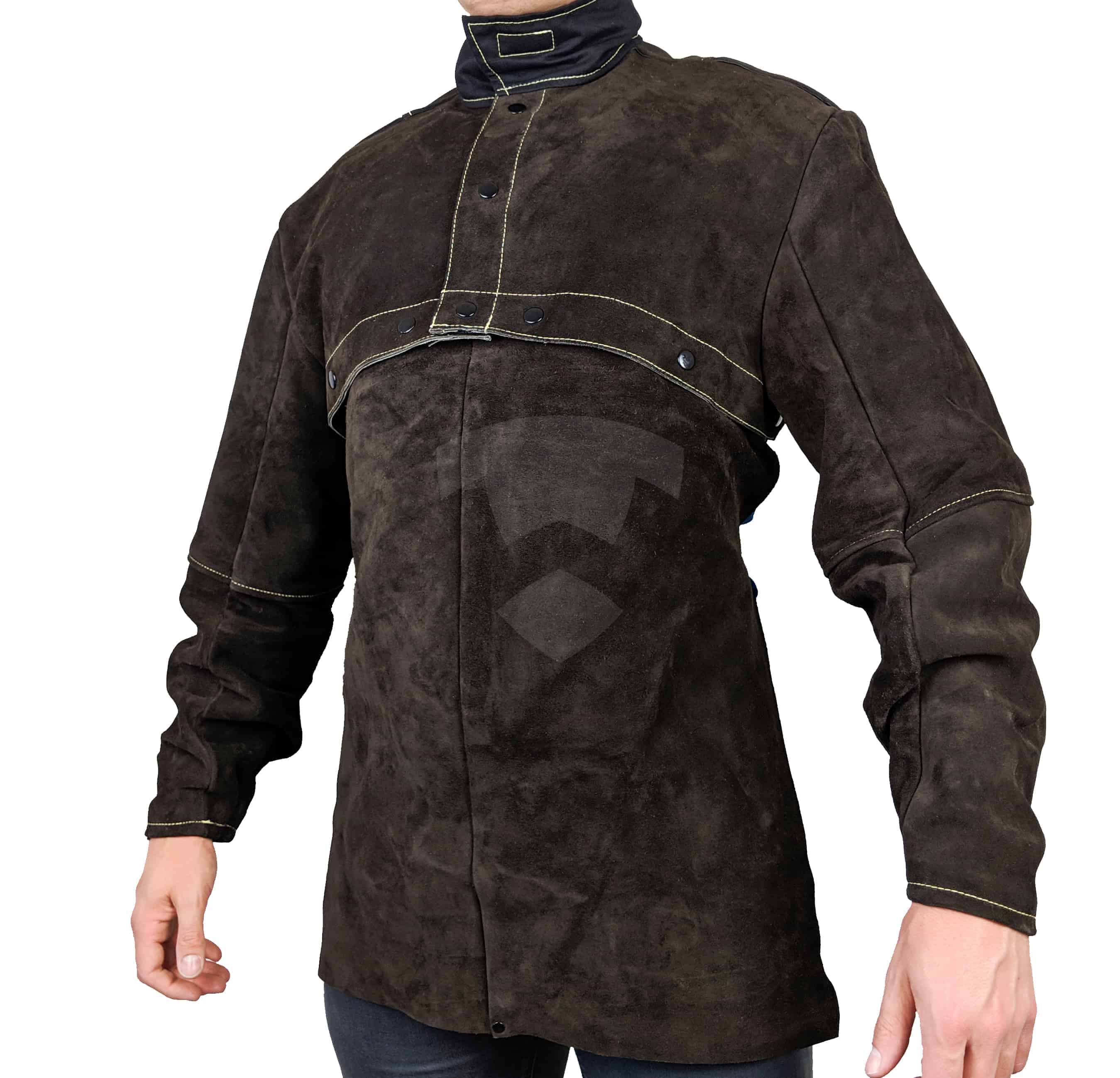 Waylander Welding Cape Sleeves Cowhide With Detachable 20