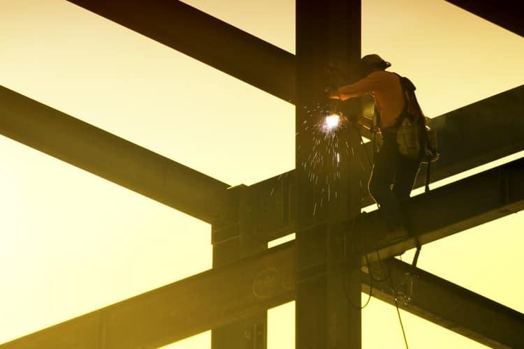 welding outdoors