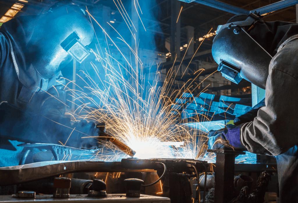 two welders working